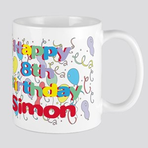Simon's 8th Birthday Mug