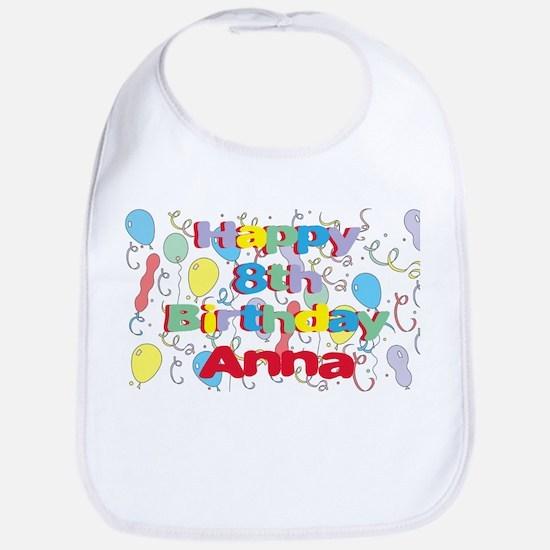 Anna's 8th Birthday Bib