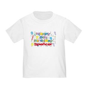 Happy Birthday Spencer Toddler T Shirts
