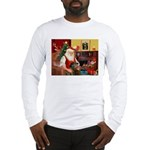 Santa's Greyhound(brin) Long Sleeve T-Shirt