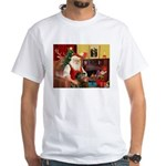 Santa's Greyhound(brin) White T-Shirt