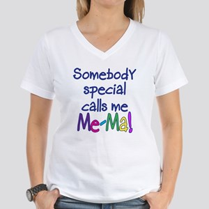 SOMEBODY SPECIAL CALLS ME ME-MA! Women's V-Neck T-