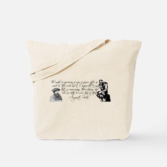 Auguste Rodin Art Quote Tote Bag