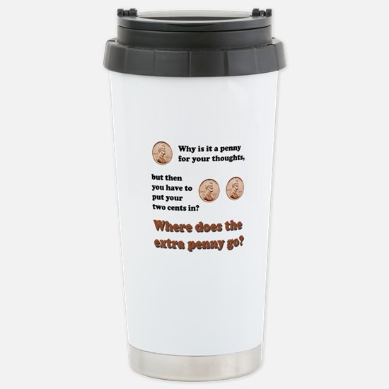 Two Cents Stainless Steel Travel Mug