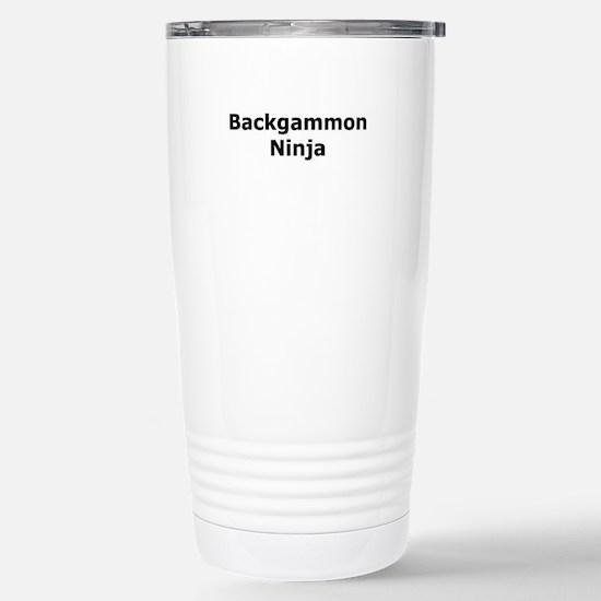 Backgammon Ninja Stainless Steel Travel Mug