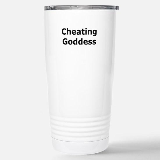 Cheating Goddess Stainless Steel Travel Mug
