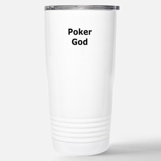 Poker God Stainless Steel Travel Mug