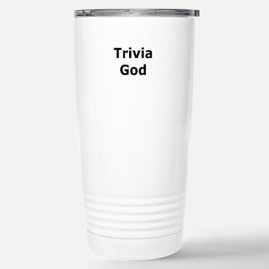 Trivia God Stainless Steel Travel Mug