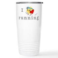 I Love Running Stainless Steel Travel Mug
