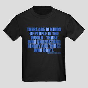 10 Kinds of People Kids Dark T-Shirt