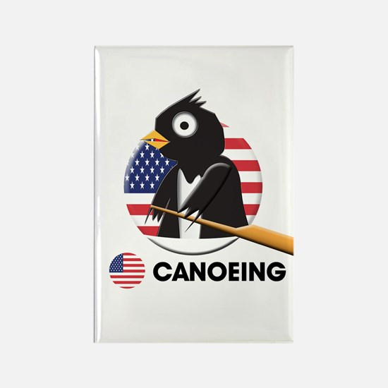 canoeing Rectangle Magnet