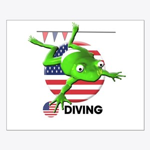 diving Small Poster