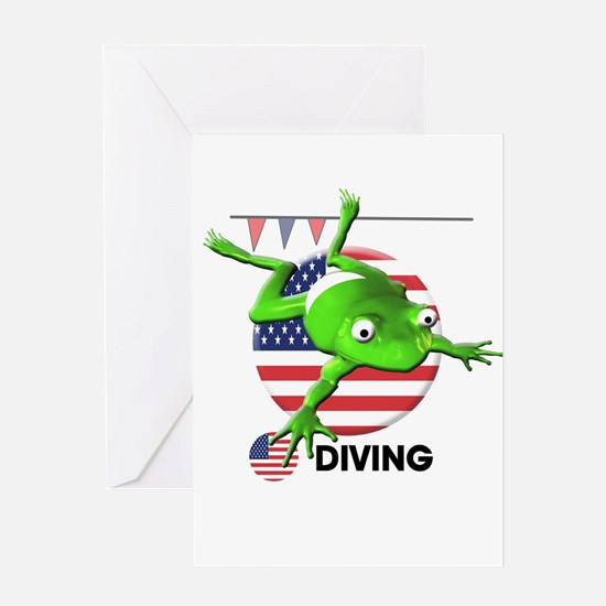 diving Greeting Card