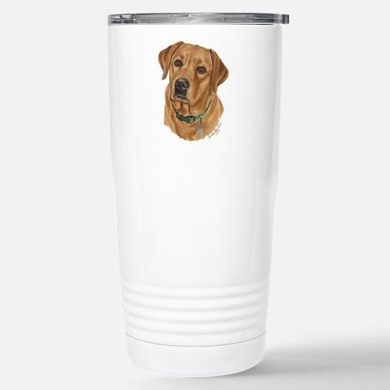 Fox Red Labrador Stainless Steel Travel Mug