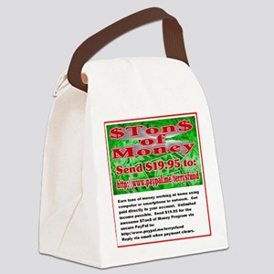 $TON$ OF MONEY Canvas Lunch Bag