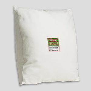 $TON$ OF MONEY Burlap Throw Pillow