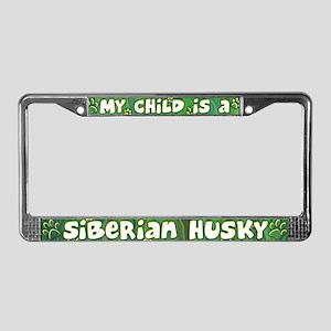 My Kid Siberian Husky License Plate Frame