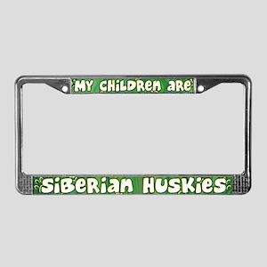 My Children Siberian Husky License Plate Frame