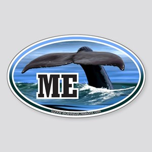 ME Maine Whale Tail Fluke Decal Oval Sticker