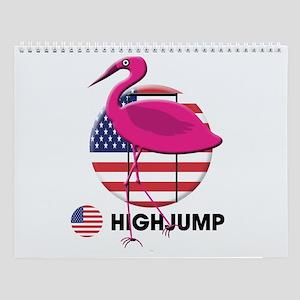 high jump Wall Calendar