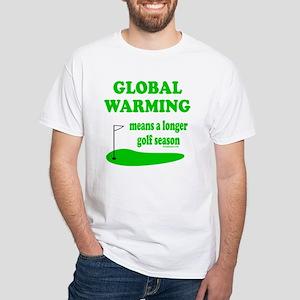 GOLFING White T-Shirt