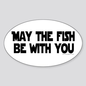 Fish Force Oval Sticker