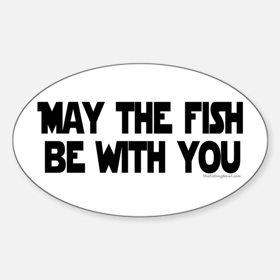 Fish Force Oval Decal