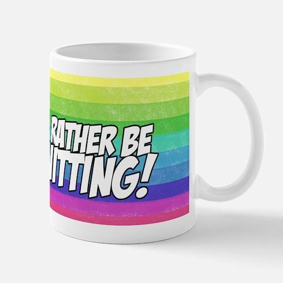 I'd rather be knitting Mug