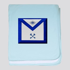 Masonic Treasurer Apron baby blanket
