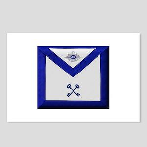 Masonic Treasurer Apron Postcards (Package of 8)