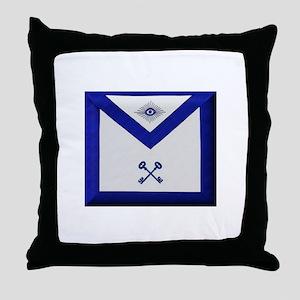 Masonic Treasurer Apron Throw Pillow