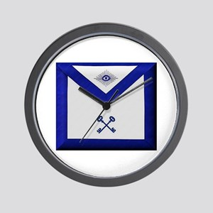 Masonic Treasurer Apron Wall Clock