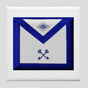 Masonic Treasurer Apron Tile Coaster