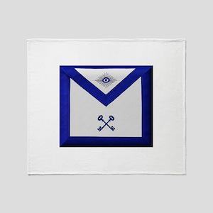 Masonic Treasurer Apron Throw Blanket