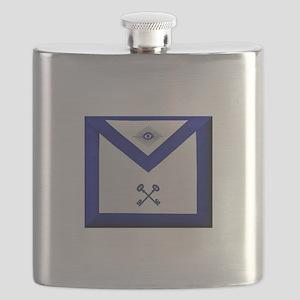 Masonic Treasurer Apron Flask
