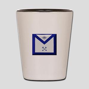 Masonic Treasurer Apron Shot Glass