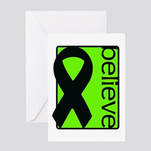 Lime Green (Believe) Ribbon Greeting Card