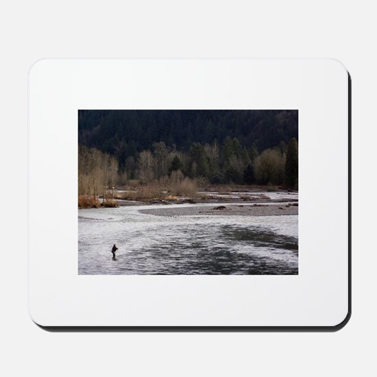Fishing in the Wild Mousepad