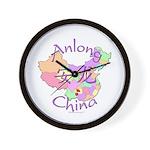 Anlong China Map Wall Clock