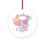 Anshun China Map Ornament (Round)