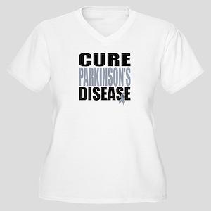 Cure Parkinson's Disease Women's Plus Size V-Neck