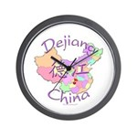 Dejiang China Map Wall Clock