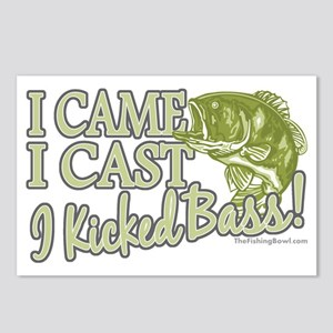 Came, Cast, Kicked Bass Postcards (Package of 8)