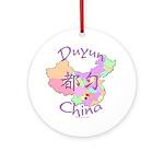 Duyun China Map Ornament (Round)