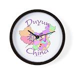 Duyun China Map Wall Clock