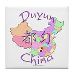 Duyun China Map Tile Coaster