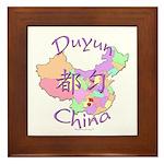 Duyun China Map Framed Tile