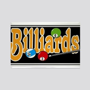 Billiards Rectangle Magnet