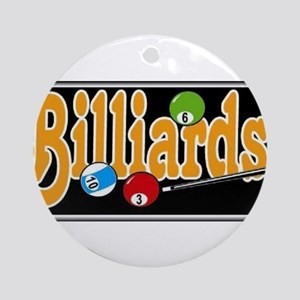 Billiards Ornament (Round)