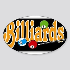 Billiards Oval Sticker